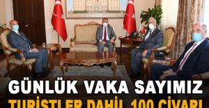 """Vali Yazıcı: """"Günlük vaka sayımız turistler dahil 100 civarı """""""