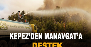 Kepez'den Manavgat'a destek