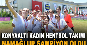 Konyaaltı Kadın Hentbol Takımı namağlup şampiyon oldu