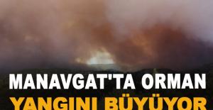 Manavgat'ta orman yangını büyüyor