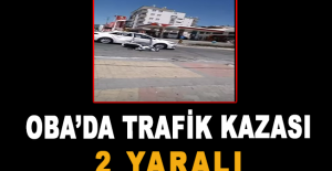 Oba'da trafik kazası: 2 yaralı