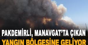 Tarım ve Orman Bakanı Pakdemirli,Manavgat'ta çıkan yangın bölgesine geliyor