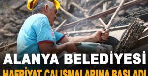 Alanya belediyesi, Hafriyat çalışmalarına başladı
