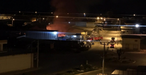 Alanya'da gece saatlerinde korkutan yangın
