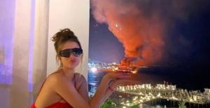 Alanya'da tur tekneleri yanarken çekilen fotoğrafa tepki yağdı