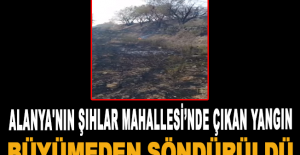 Alanya'nın Şıhlar Mahallesi'nde çıkan yangın büyümeden söndürüldü