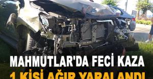 Mahmutlar'da Feci kaza! 1 kişi ağır yaralandı