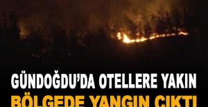 Otellere yakın bölgede yangın çıktı
