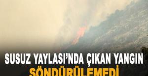 Susuz Yaylası'nda çıkan yangın söndürülemedi