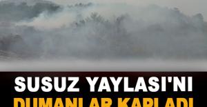 Susuz Yaylası'nı dumanlar kapladı