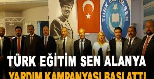 Türk Eğitim Sen Alanya Yardım Kampanyası Başlattı