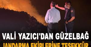 Vali Yazıcı'dan Güzelbağ Jandarma ekiplerine teşekkür