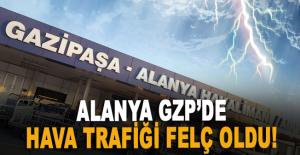 Alanya GZP'de hava trafiği felç oldu