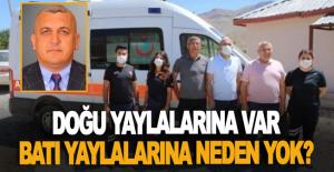 Alanya'nın batısındaki yaylalardan ambulans talebi