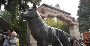 44 yıldır kayıp olan bozkurt heykeli...